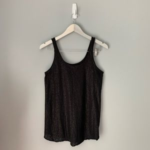 American eagle sparkly black tank top